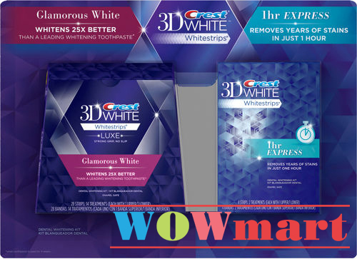 Crest 3D White Whitestrips Advanced and 1Hr Express