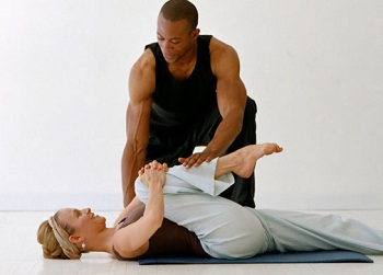 Trainer with woman