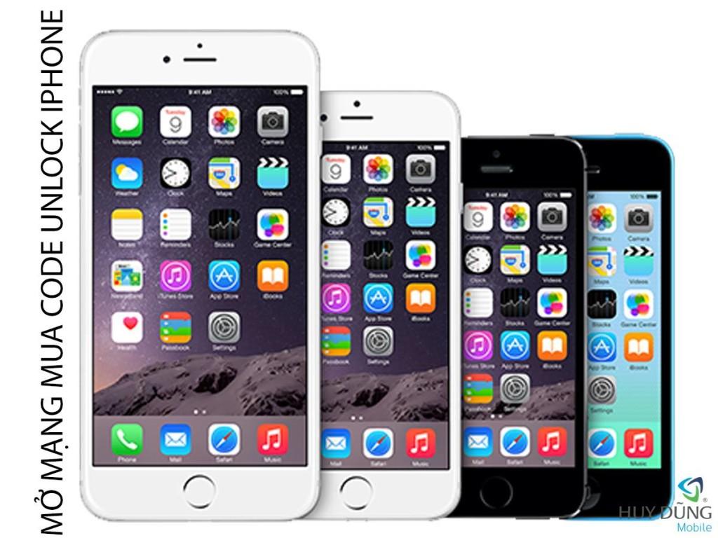 Dịch vụ mua code mở mạng iPhone 4s iPhone 5s, iPhone 6 Plus giá rẻ tại HCM